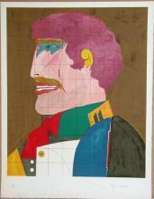 Richard Lindner, Profile, Signed Lithograph