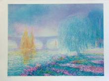 Claude Manoukian, Pont sur Yonnes,  Lithograph