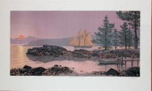Mel Hunter, Columbia Heading Out,  Signed Lithograph