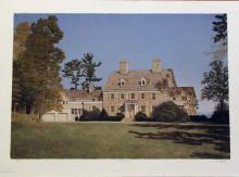 Mel Hunter, Big Oak Farm, Original Signed Mezzograph
