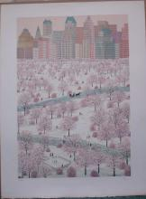 Francois (Fanch) Ledan, Spring Snow, Signed Litho