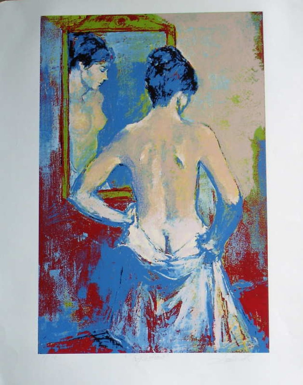 Jan De Ruth, Reflection, Signed Lithograph
