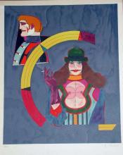 Lot 313E: Richard Lindner, Portrait No. 2, Framed Lithograph