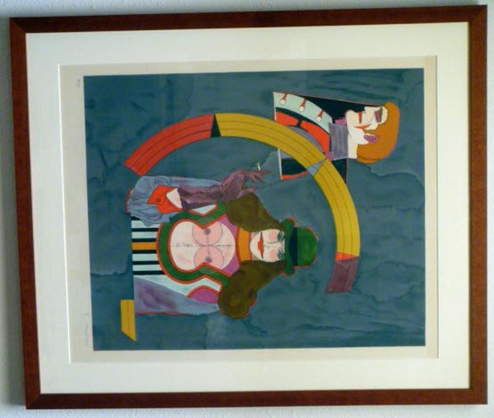 Richard Lindner, Portrait No. 2, Framed Lithograph