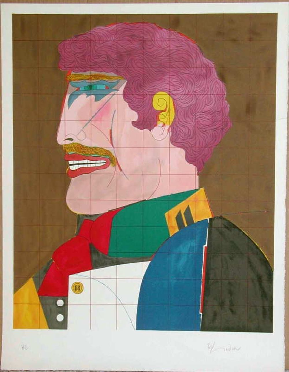 Lot 313: Richard Lindner, Profile, Signed Lithograph