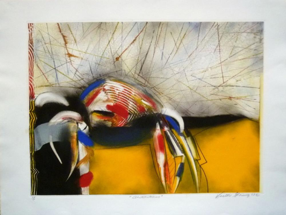 Lot 326: Victor Gomez, Abstractions, Signed Monoprint