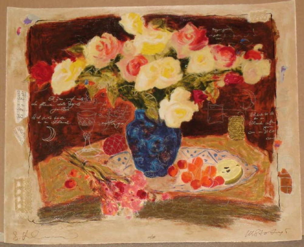 Alexander Wissotsky, Spring Flowers, Signed Serigraph