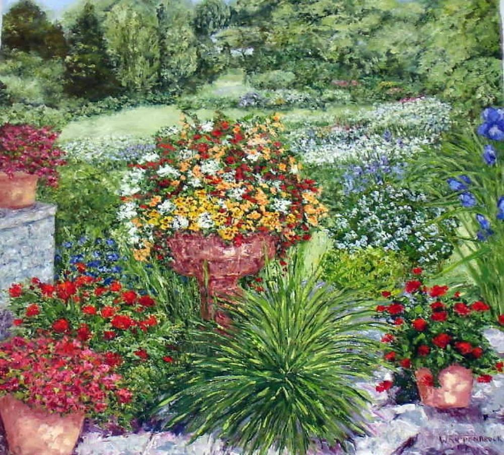Wanda Kippenbrock, Formal Garden, Canvas Print