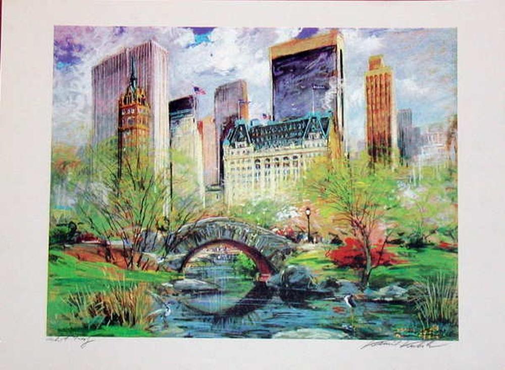 Kamil Kubik, Central Park Spring, Signed Serigraph