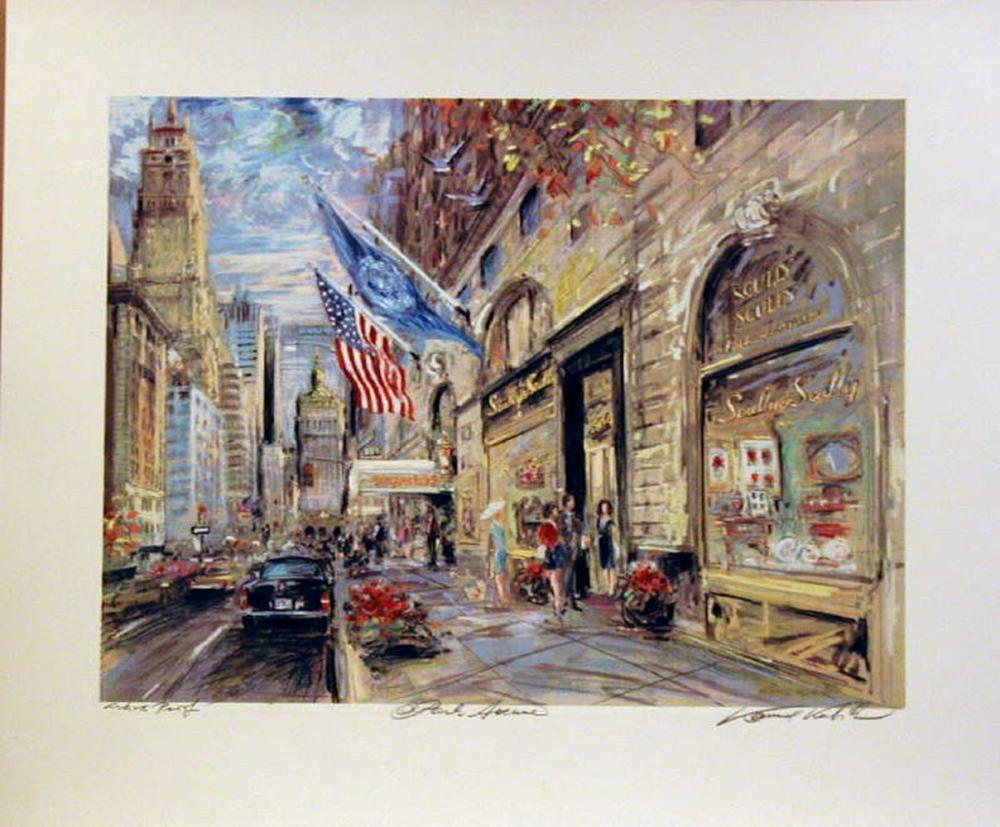 Kamil Kubik, Park Avenue, Signed Serigraph