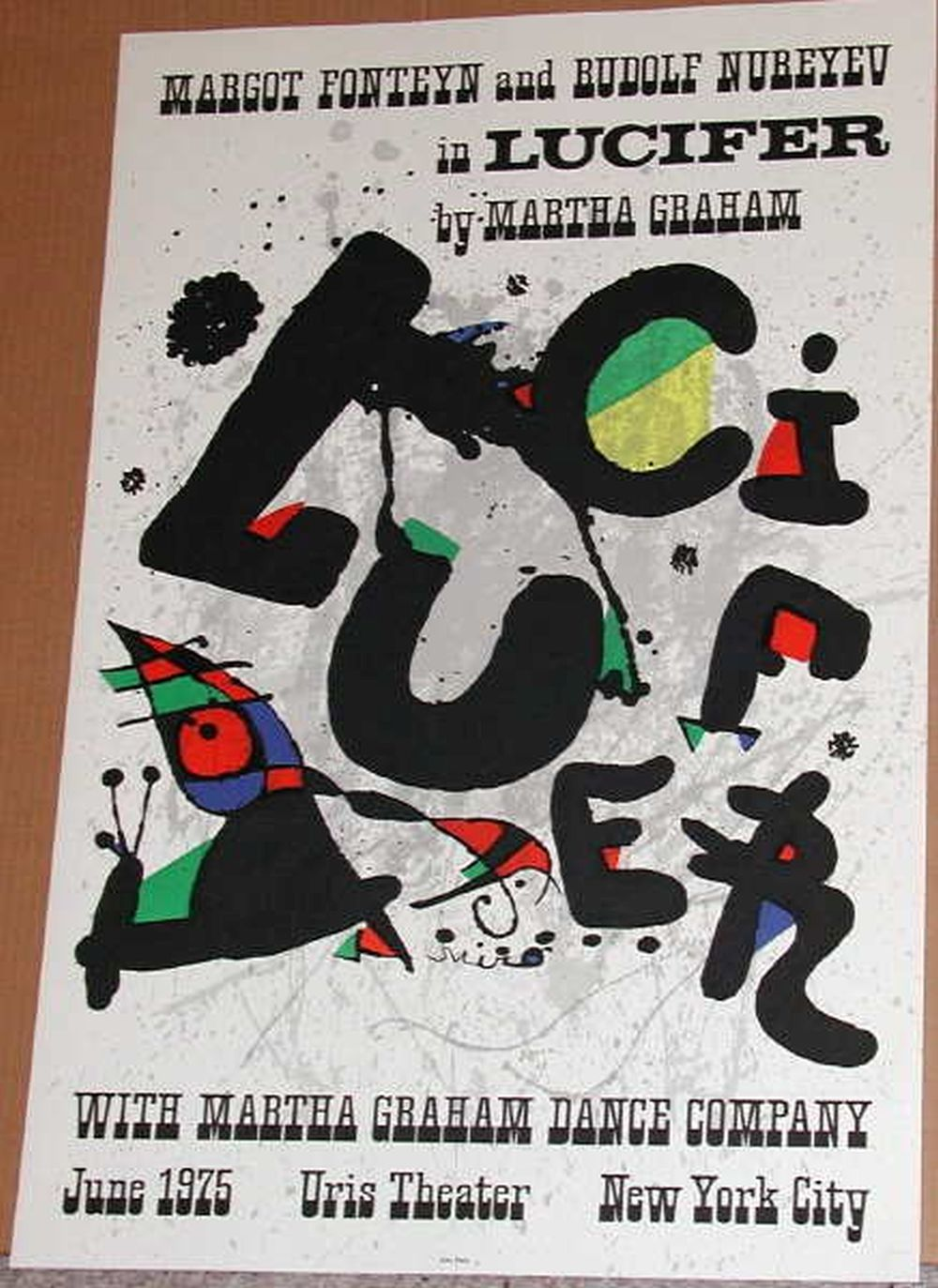 Joan Miro, Lucifer Orignal Lithographic Poster