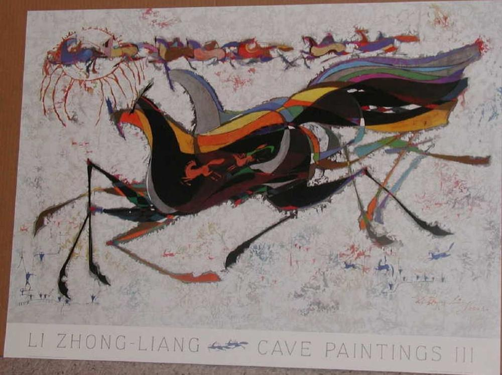Li Zhong-Liang, Cave Paintings III Poster