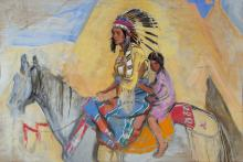 Crow Indian Sketch by John Young-Hunter