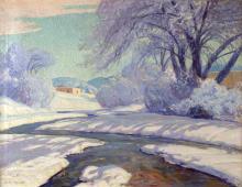 Adobe in Winter Landscape