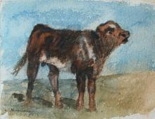 Calf by Philip Goodwin (1881-1935)