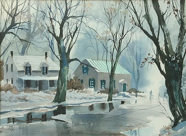 John Pike: Rainy Street Scene