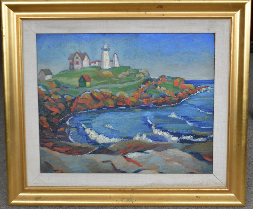 """Framed Original OOB Lighthouse Signed """"Marsden Hartley"""""""