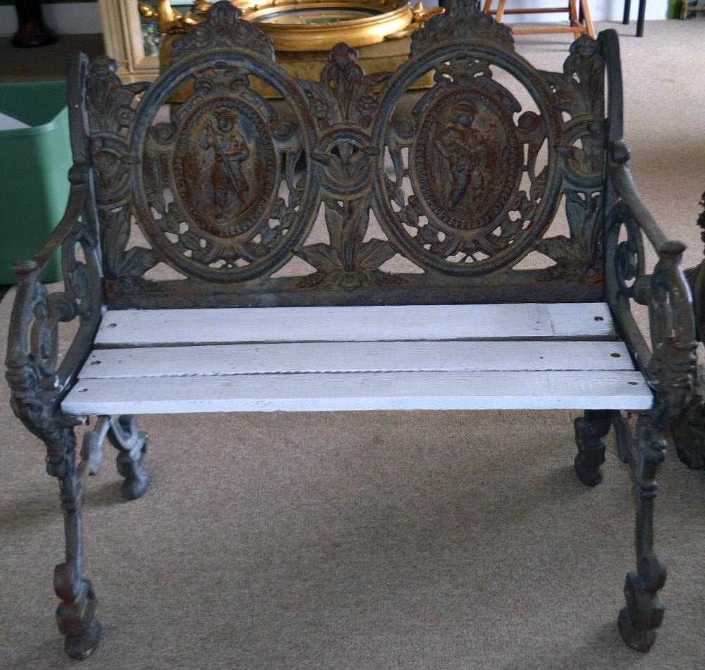 1840's Iron & Wood Bench