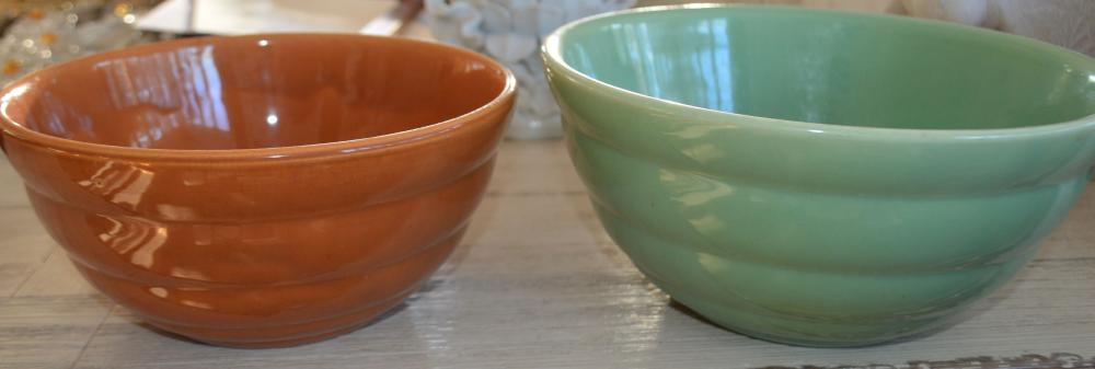 2 Pc. Bauer Pottery Mixing Bowls