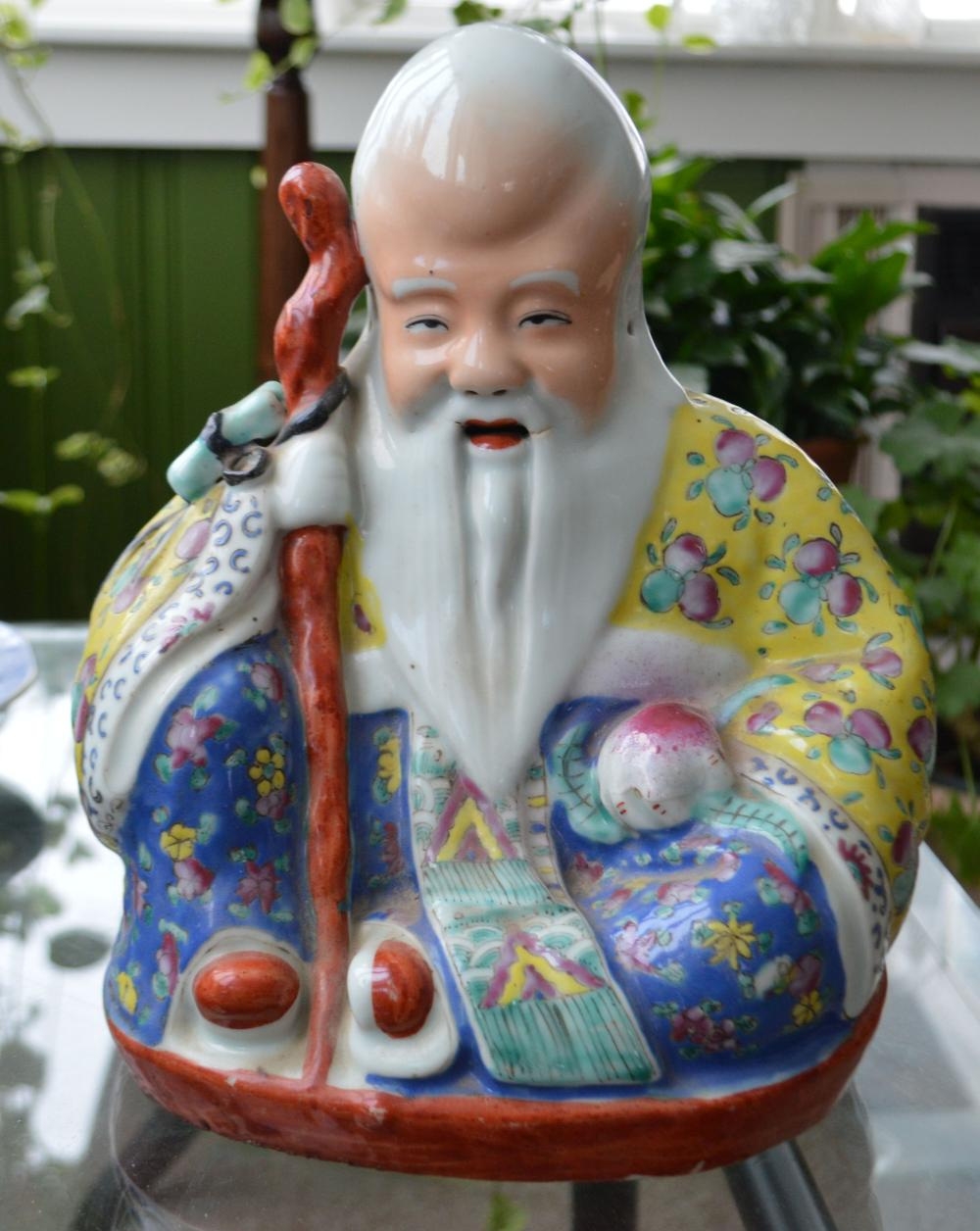 Asian Seated Open Mouth Buddha