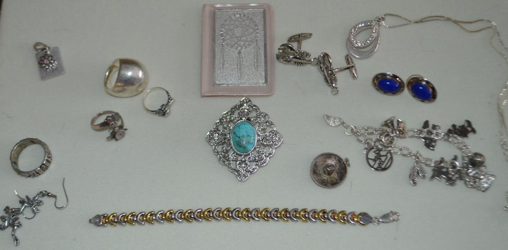 Lot Varied Sterling Silver Jewelry