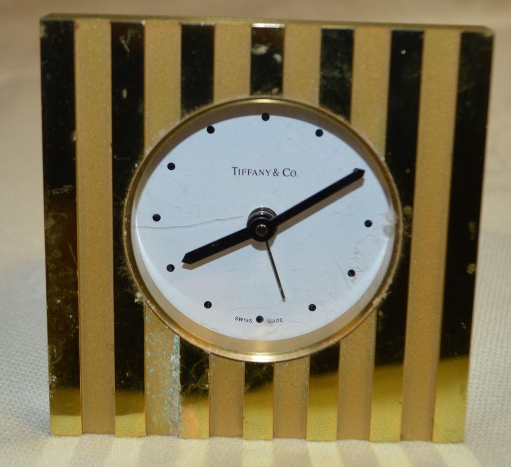 Tiffany Swiss Travel Clock