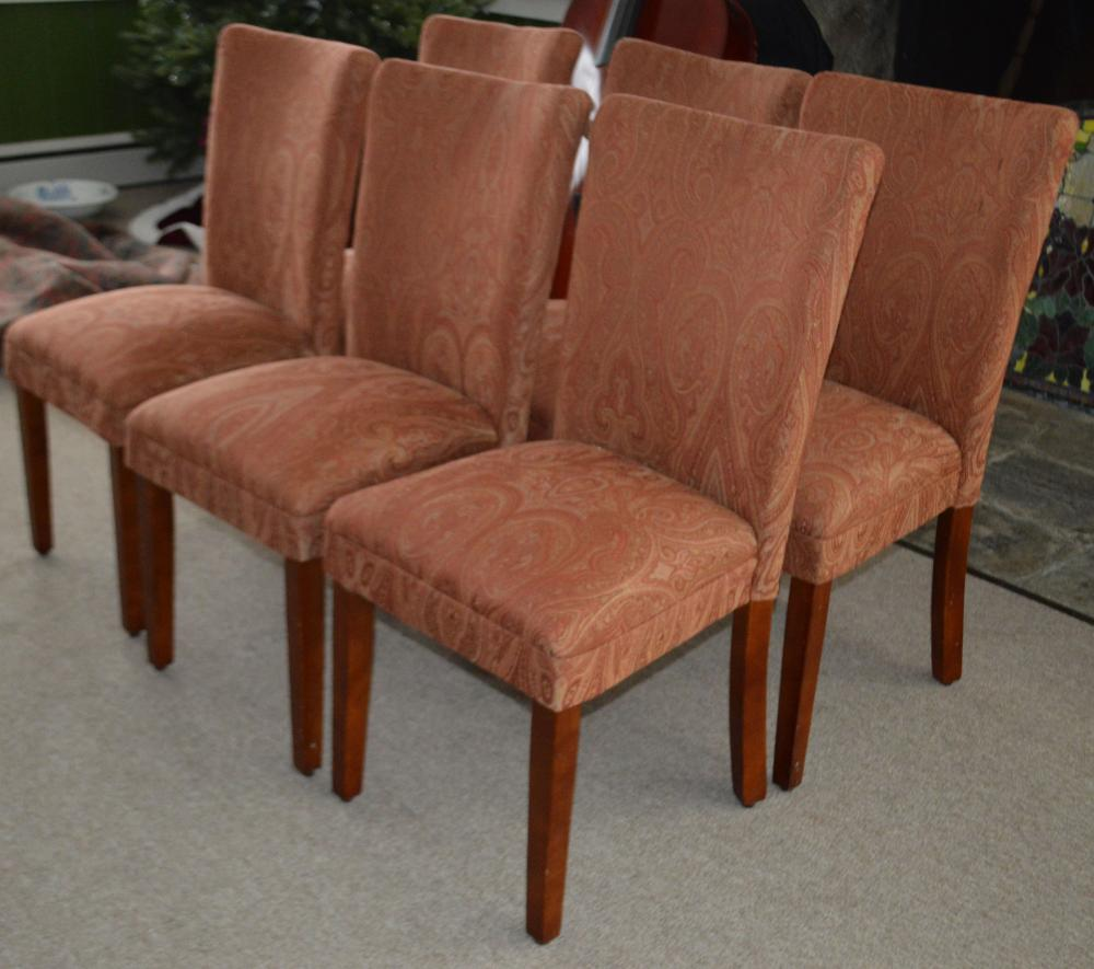 Set 8 Fully Upholstered Dining Chairs