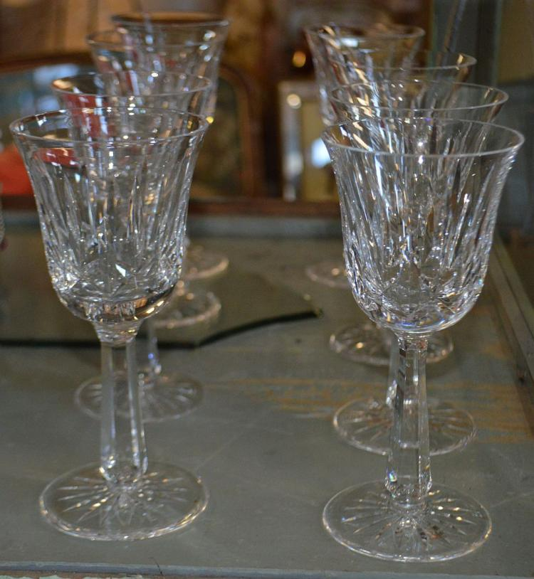 Set 8 Waterford Crystal Wine Stems