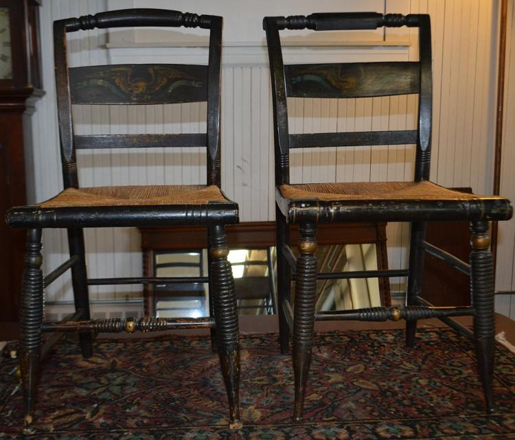 2 Hitchcock Chairs w/Eagles