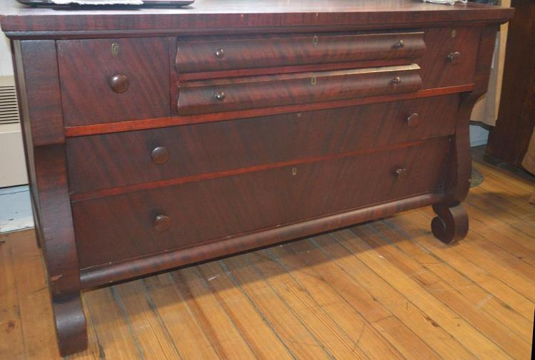 4 over 2 Mahogany Chest Drawers