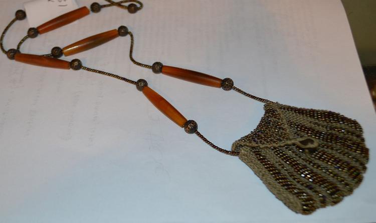 Victorian Bead Work Coin Purse