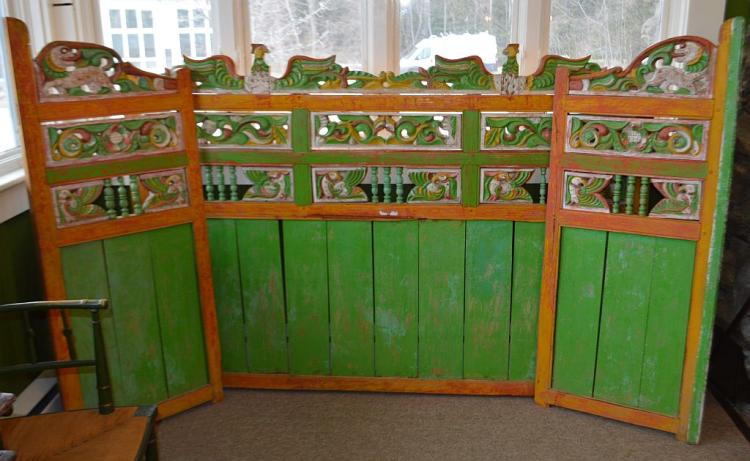 3 Green Painted Panels