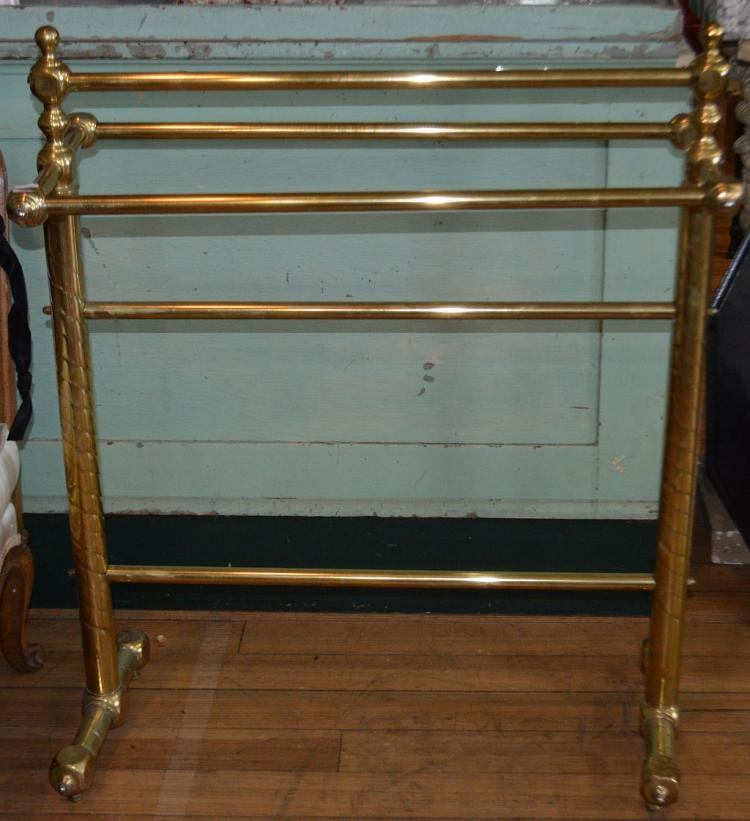 Victorian Brass Towel Bar