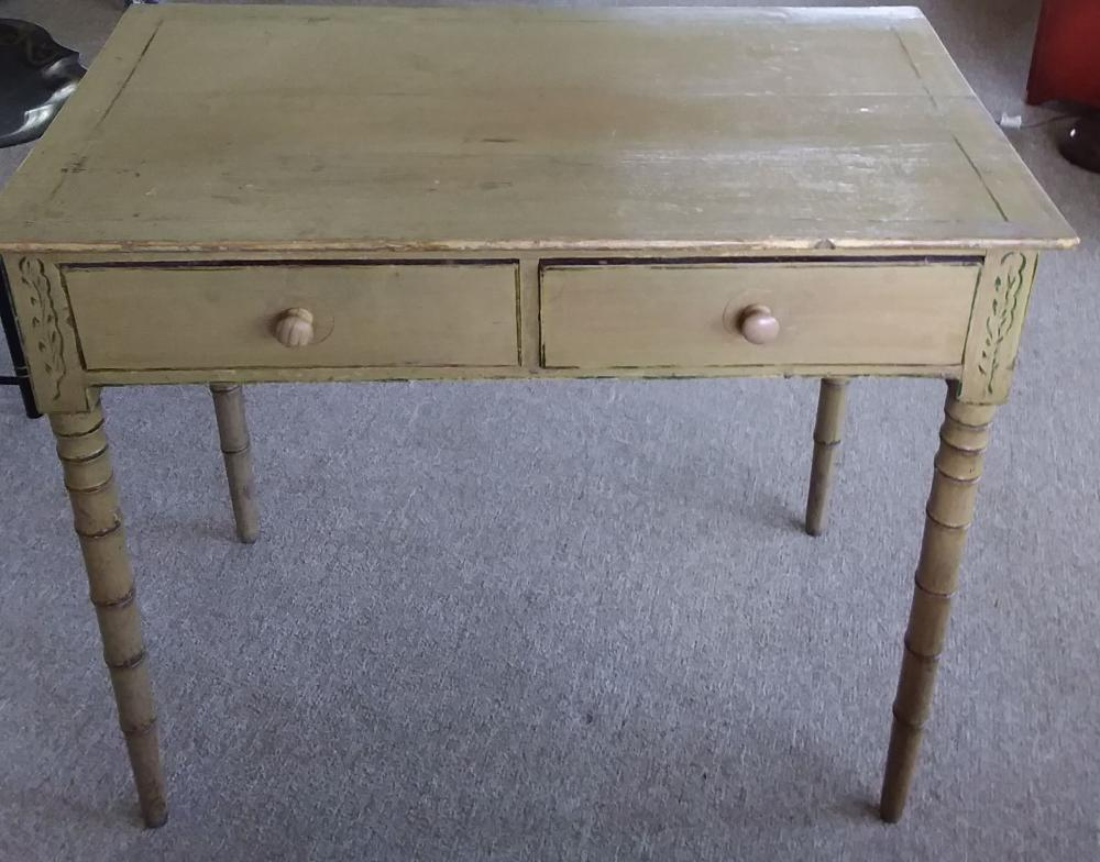 Antique 2 Drawer Painted Stand