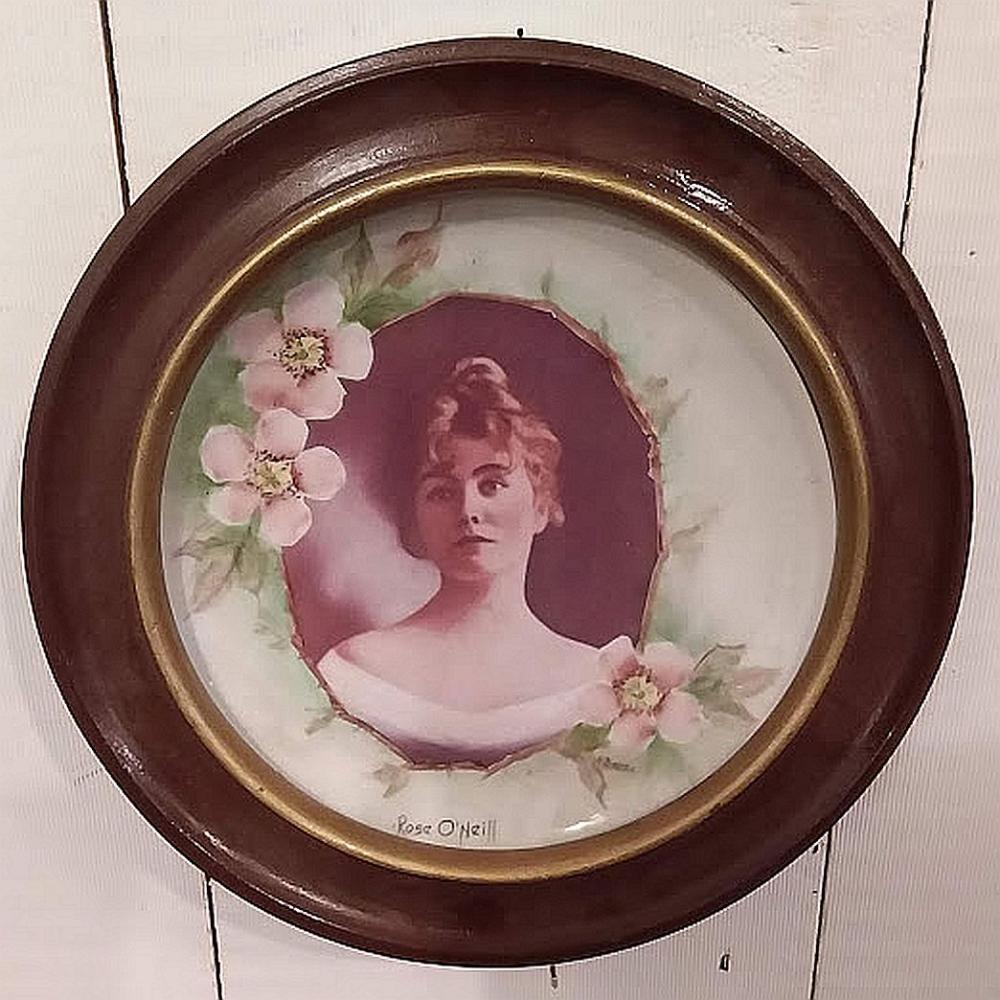 """Rose O'Neill"" Portrait Plate in Frame"