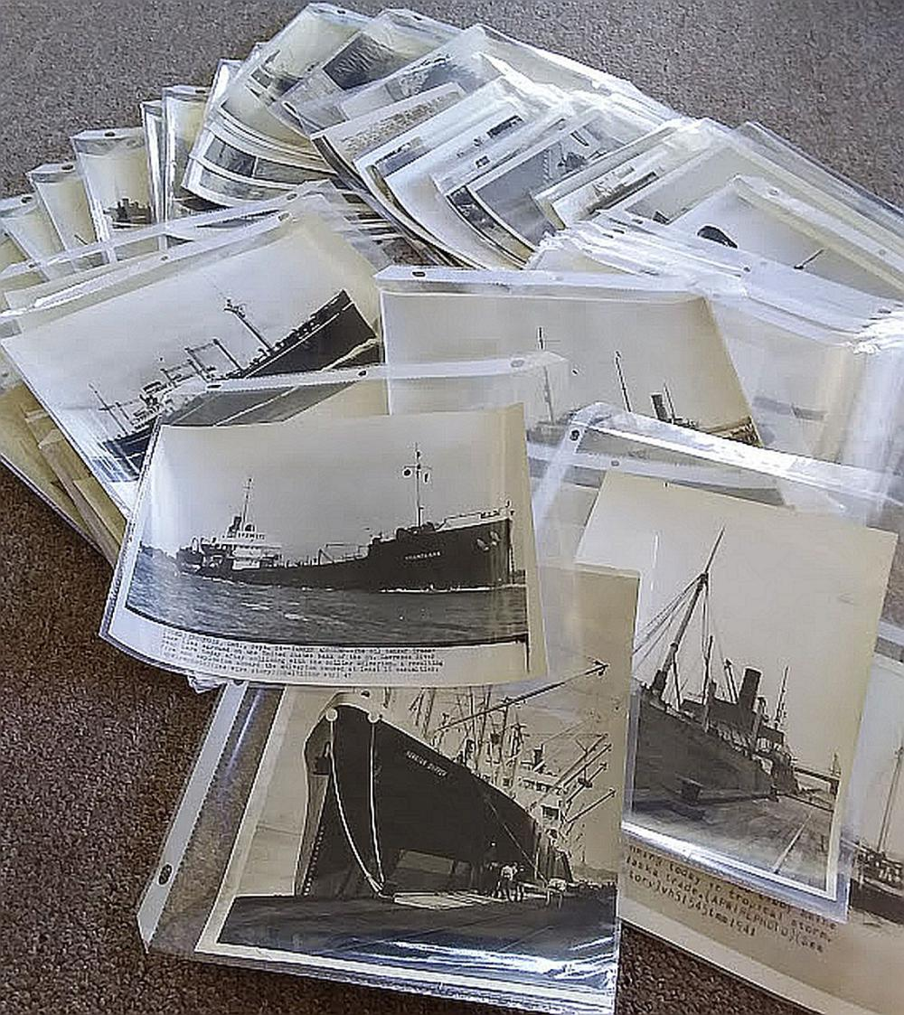 45 pc Vintage Photographs of Varied Ships