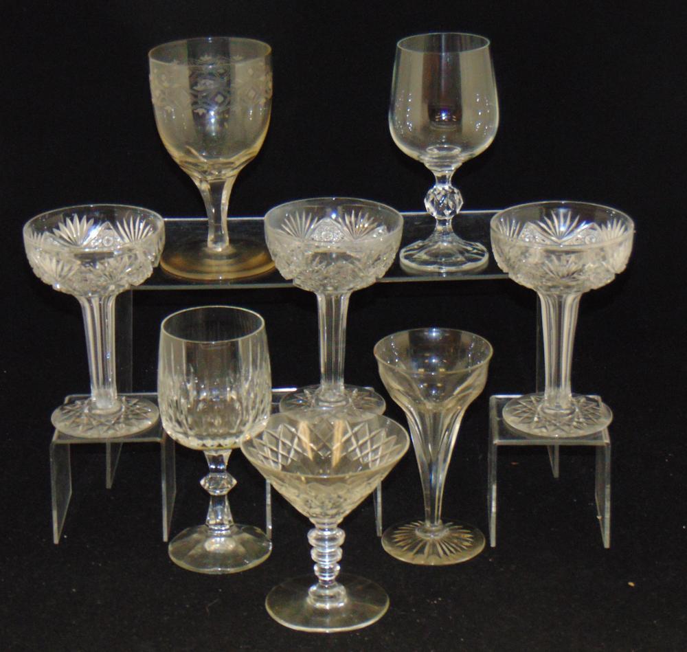Eight various ABCG goblets