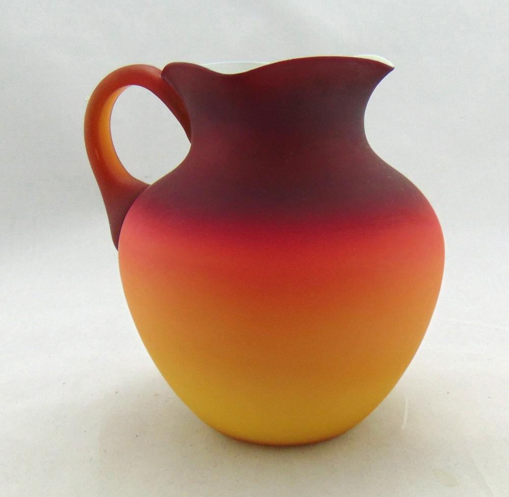 Wheeling Peachblow water pitcher