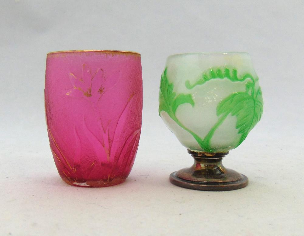Two French cameo diminutive items
