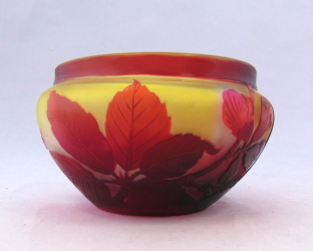 Galle French cameo glass bowl