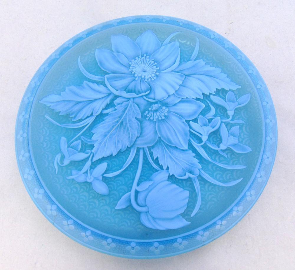 Webb cameo glass plate