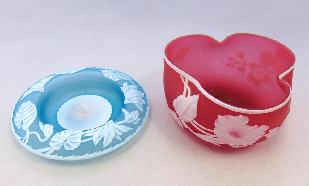 Two English cameo glass bowls