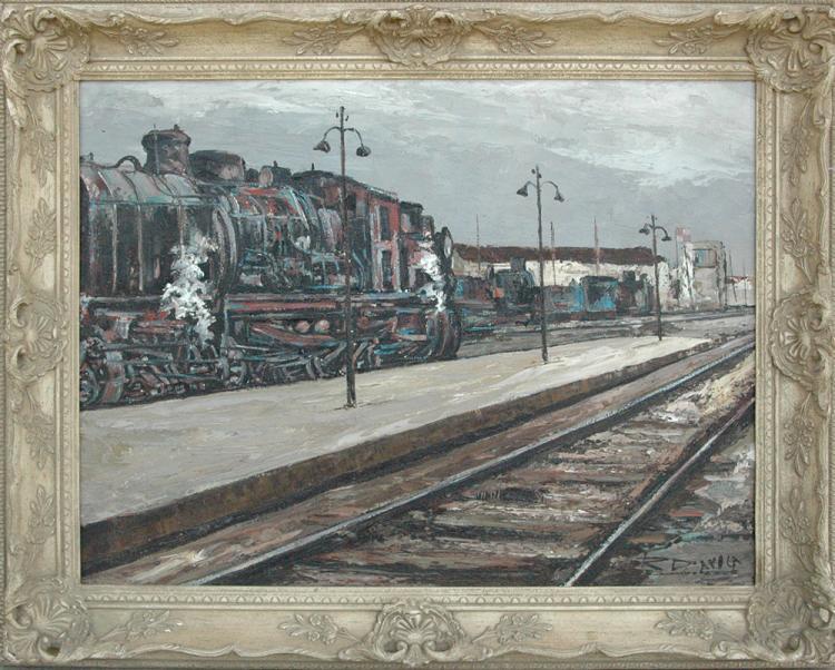 Daroca Rafael (Spanish 1927-)  Maquina de Tren