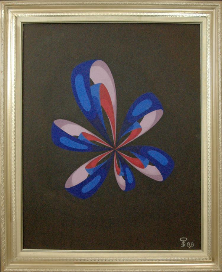 Kluchik Steven (Hungarian born 1946) Cosmic Flower 1988