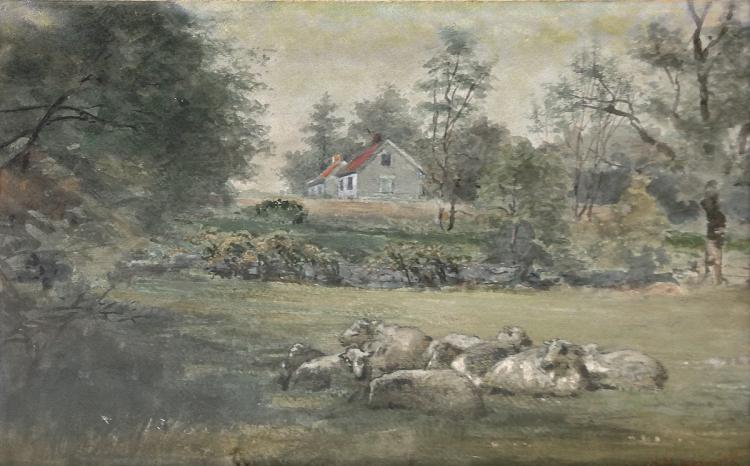 Nesmith H. M. (American 1859-1935) Meadow Watercolor on paper