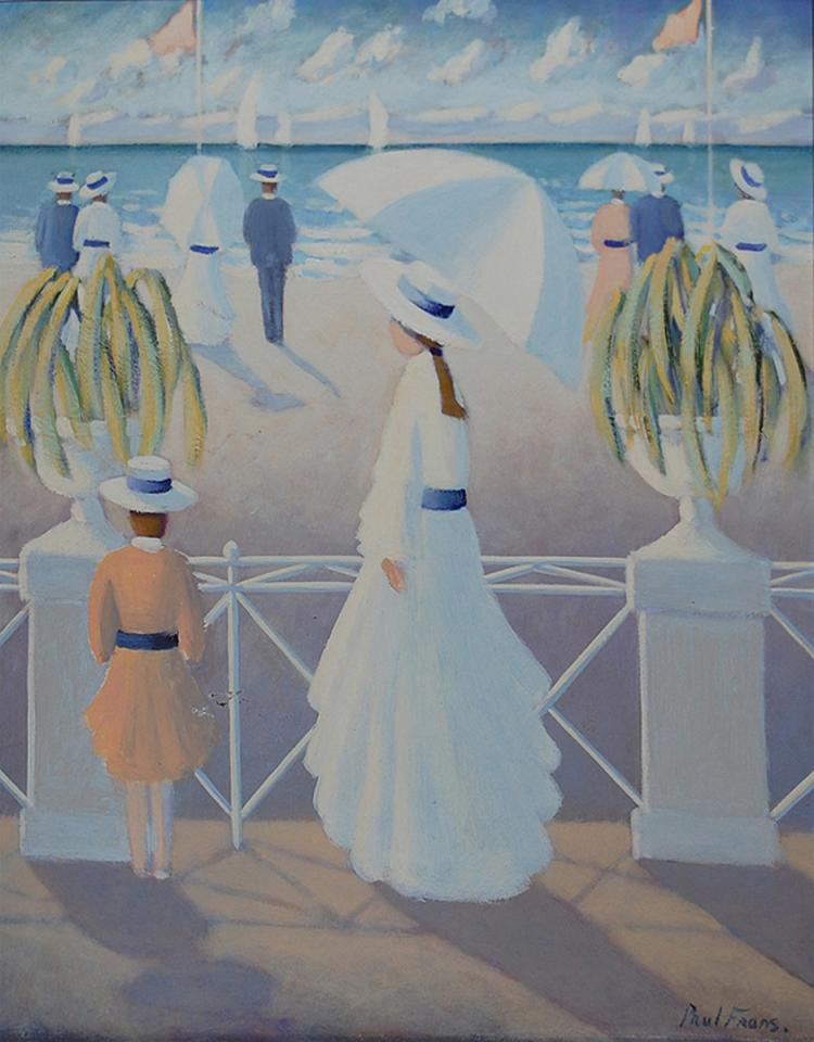 Frans Paul (French 1958) White Harmony oil on canvas