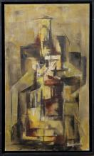 Demjanish (American school, 20th century) - Abstract Building In Cityscape