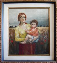 Locca Bernard (French 1927-)- Mother and Child