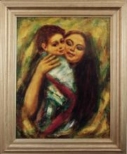 Brooks Stanley W. (American 20th c)- Mother And Child II