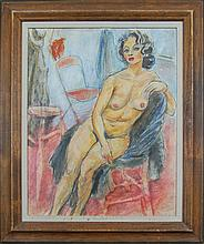 McCarthy Francis  (American 1921-2005) - Seated Nude